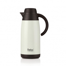 RELAX 1100ML STAINLESS STEEL THERMAL CARAFE - PEARL WHITE