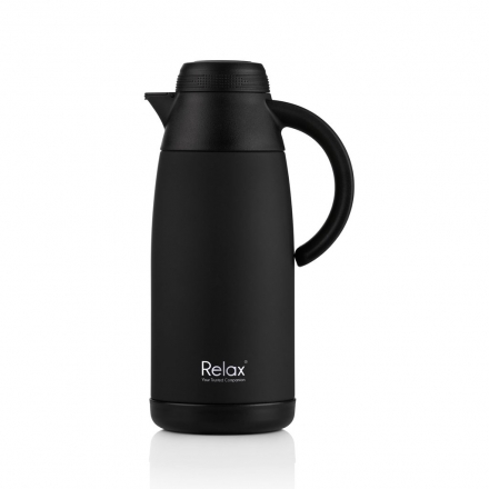 RELAX 1100ML STAINLESS STEEL THERMAL CARAFE - BLACK
