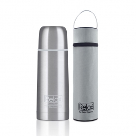 RELAX 350ML 18.8 STAINLESS STEEL CLASSIC & SIGNATURE THERMAL FLASK WITH FREE POUCH