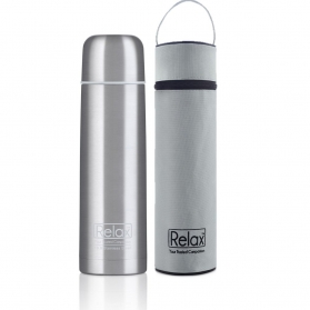 RELAX 1000ML 18.8 STAINLESS STEEL CLASSIC & SIGNATURE THERMAL FLASK WITH FREE POUCH