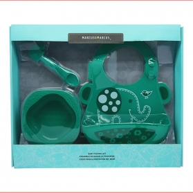 Marcus & Marcus Baby Feeding Starter Set - Green Ollie