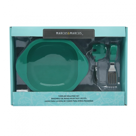 Marcus & Marcus Toddler Mealtime Set - Green Ollie