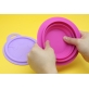 Marcus & Marcus Silicone Collapsible Bowl - Purple Willo