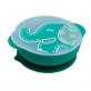 Marcus & Marcus Silicone Self Feeding Suction Bowl with Lid - Green Ollie