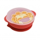 Marcus & Marcus Silicone Self Feeding Suction Bowl with Lid - Marcus Red
