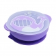 Marcus & Marcus Silicone Self Feeding Suction Bowl with Lid - Purple Willo