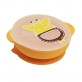Marcus & Marcus Silicone Self Feeding Suction Bowl with Lid - Yellow Lola
