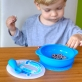 Marcus & Marcus Silicone Self Feeding Suction Bowl with Lid - Blue Lucas