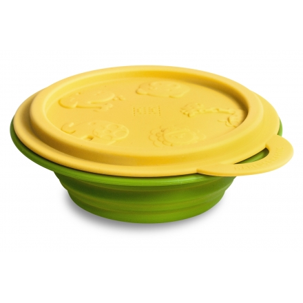 Marcus & Marcus Silicone Collapsible Bowl - Yellow Lola
