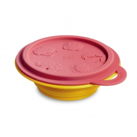 Marcus & Marcus Silicone Collapsible Bowl - Red Lucas