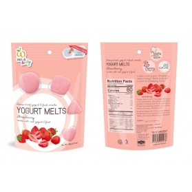 Wel.B Baby Freeze Dried Yogurt Melts - Strawberry