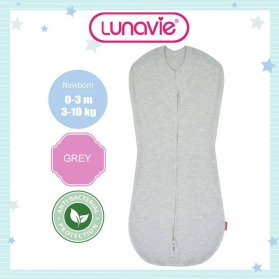 Lunavie Antibacterial Swaddle Pouch (Zip) - Grey