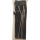 RELAX REUSABLE STAINLESS STEEL STRAW & BRUSH FLATWARE SET WITH STORAGE BAG - BLACK