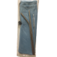 RELAX REUSABLE STAINLESS STEEL STRAW & BRUSH FLATWARE SET WITH STORAGE BAG - BLUE