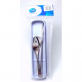 RELAX 4pcs FLATWARE SET - STAINLESS STEEL SPOON & FORK & STRAW & BRUSH  WITH STORAGE CASE - BLUE
