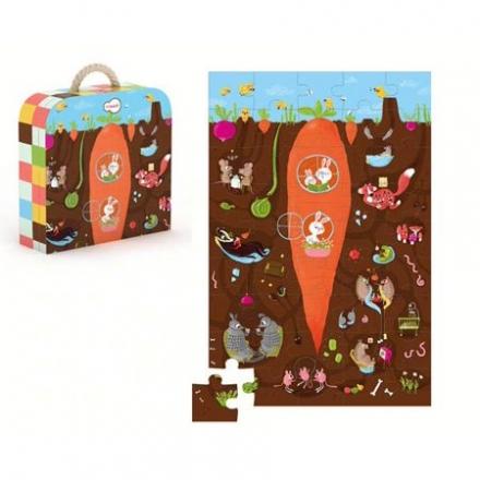 KROOOM Cardboard Puzzle - Underground (45pcs)