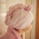 Cuddletwist Hair Towel - Pink Candy Stripe Edge