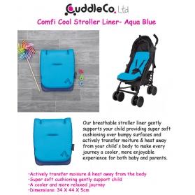 CuddleCo Comfi Cool Stroller Liner-Aqua Blue
