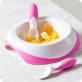 DIFRAX Toddler Easy Scoop Plate (Pink)