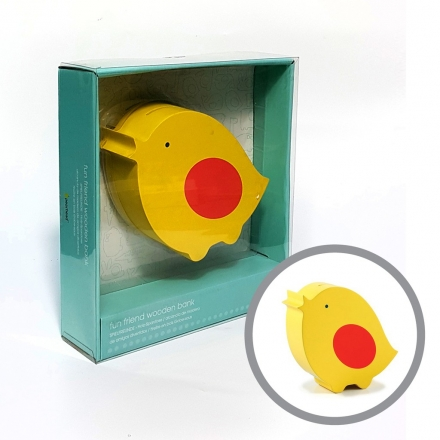 Pearhead Wooden Bird Bank