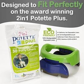 Potette Plus Disposable Portable Potty Liners - 30ps