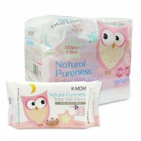 KMOM Organic Baby Wet Wipes Tissue 100 Sheet x 6 packs