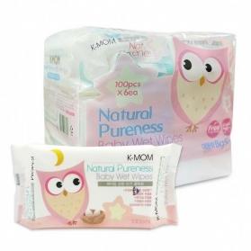 KMOM Organic Baby Wet Wipes Tissue 100 Sheet x 6 packs