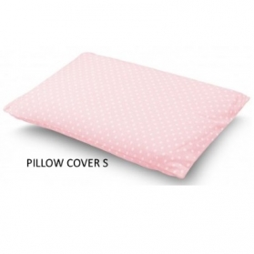 COMFY LIVING PILLOW COVER (S)  - PINK DOT