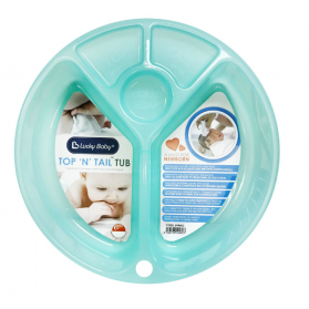 "Lucky Baby Top ""N"" Tail™ Tub 5 Separate Compartments Baby Wash Basin"