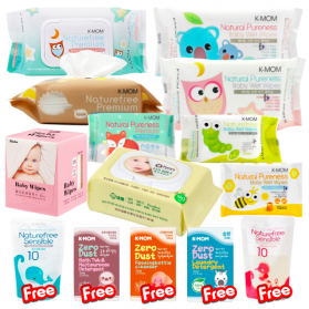 (Buy 9 Free 5) Baby Organic Wipes & Tissue Bundle Set