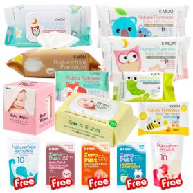 (Buy 9 Free 5) Baby Organic Wipes & Tissue Bundle Set