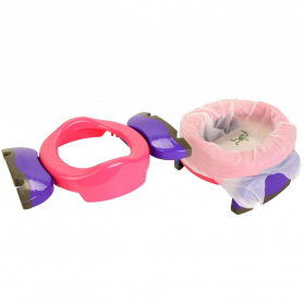 Potette Plus 2 in 1 Foldable Travel Potty Trainer Seat - Pink