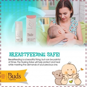 BUDS ORGANIC MOMMY NURSING SALVE NIPPLE CREAM 15ml