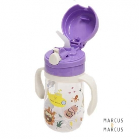 Marcus & Marcus Tritan Straw Bottle 350ml - Purple Willo