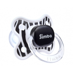 SIMBA Thumb Shape Pacifier with Case - Zebra (0m+/6m+)