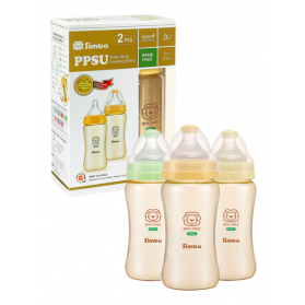 SIMBA PPSU Feeding Bottle (TWIN PACK)- Wide Neck 270ml (9oz)