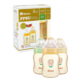 SIMBA PPSU Feeding Bottle (Twin Pack) - Wide Neck 200ml (7oz)