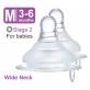 SIMBA Ultra Soft Wide Neck Anti-Colic Nipple (Twin Pack) Round Hole (M)