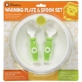 SIMBA Warming Suction Plate with Fork & Spoon Set (Come with Cover) - Green