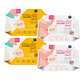 KMOM Organic Baby First Wet Wipes Promise (30 sheet x 4packs)