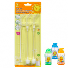 SIMBA Pop-up Bottle Alternate Straw Replacement Set With Brush