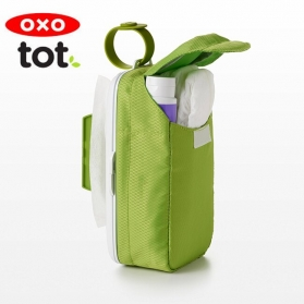 OXO TOT On-the-Go Wipes Dispenser with Diaper Pouch (Green)