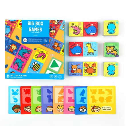 Joan Miro Big Box Of Games Kids 3 In 1 Table Board Games