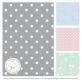 Comfy Baby Comfy Living Comforter Baby Blanket 80x110cm - Grey Dot