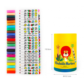 Joan Miro Round Penpoint Washable Markers - 24ct