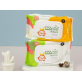 KMOM Organic First All Purpose Antibacterial Wet Wipes With Ethanol (40 sheet/pack)