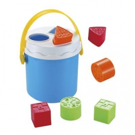 infunbebe Shape Sorting Bucket (With 9 Blocks)