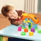 infunbebe My First House Shape Sorting Playset with Shape and Color Sorters (5 Blocks)
