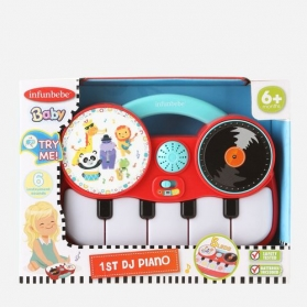 infunbebe 1st DJ Piano My First Electronic Piano with DJ Mixer