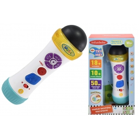 infunbebe Musical Recording Microphone for Kids with Colorful Light Toys